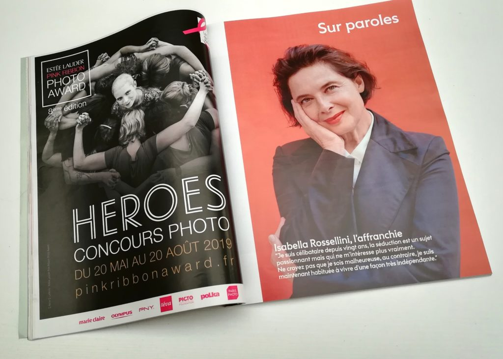 Photo finaliste 2018 Estée Lauder Pink Ribbon Photo Award magazine 2